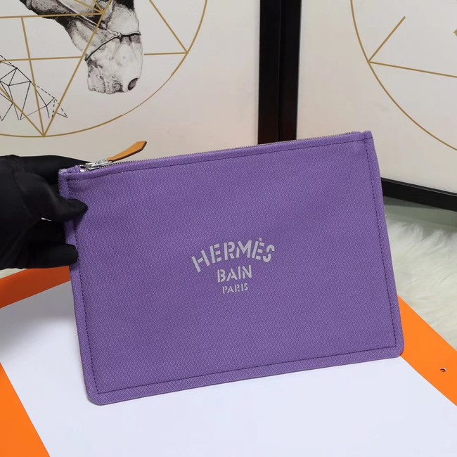 Hermes Cosmetic Bag H3700 Purple
