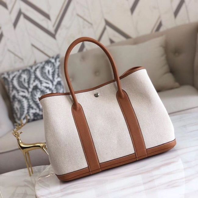 Hermes Garden Party 36cm Tote Bags Original Leather H3698 Brown