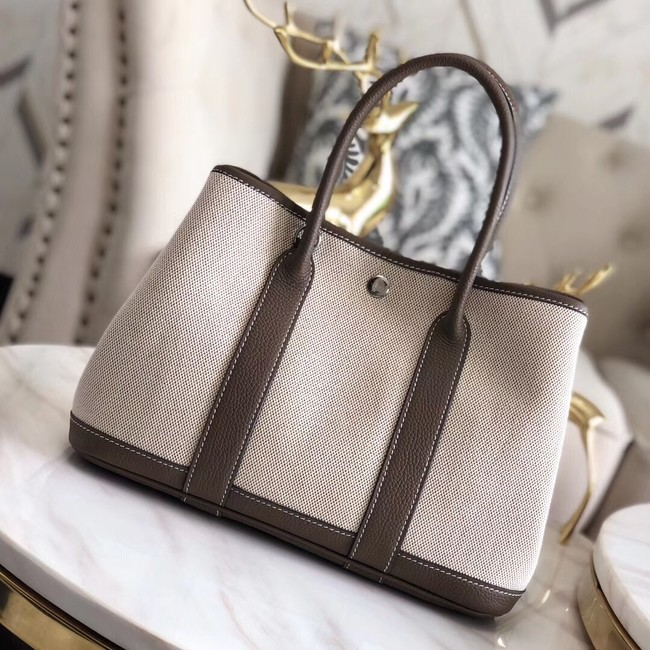 Hermes Garden Party 36cm Tote Bags Original Leather H3698 Grey