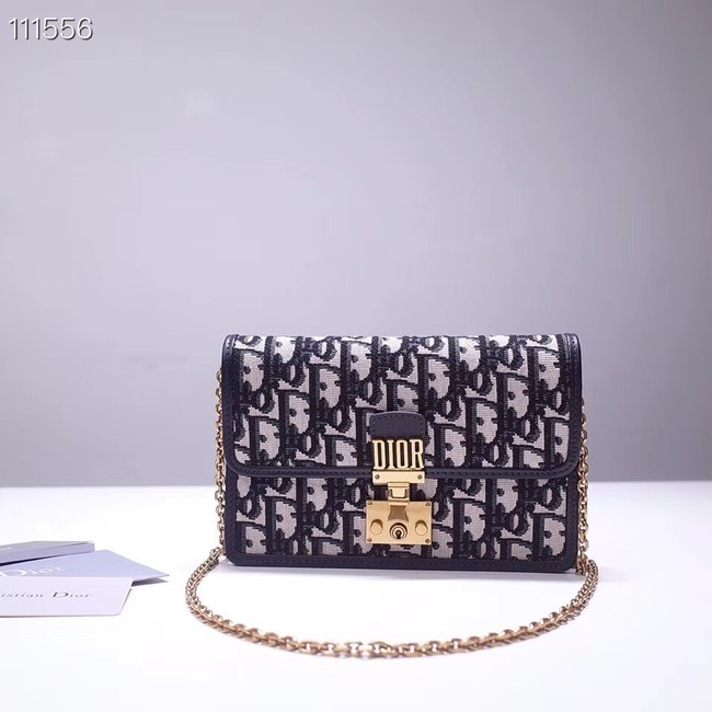 Dior DIORAMA leather Chain bag S2012 blue