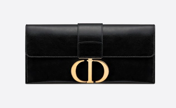 Dior 30 MONTAIGNE sheepskin leather Clutch bag M9206 black
