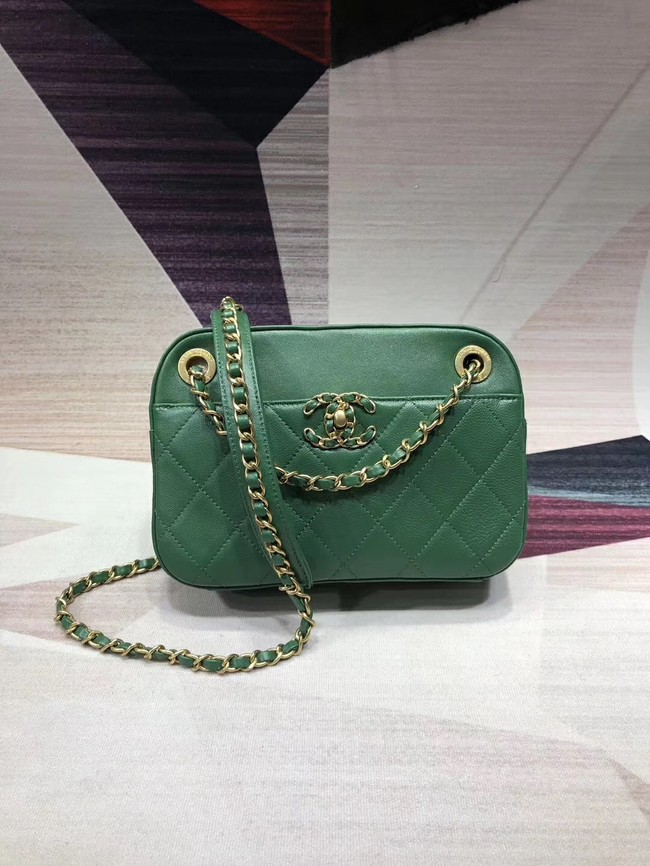 Chanel Original Leather Bag 9235 Green