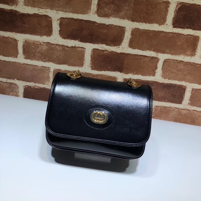 Gucci GG Original Leather Shoulder Bag 576423 Black