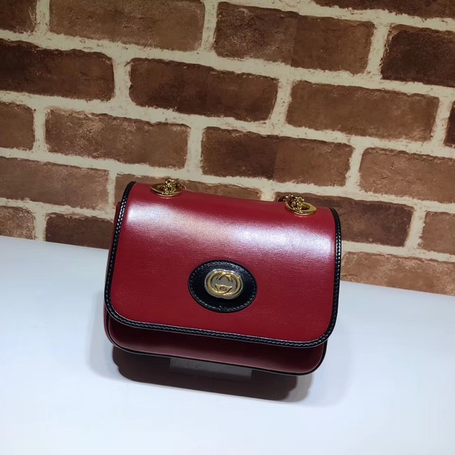 Gucci GG Original Leather Shoulder Bag 576423 Red