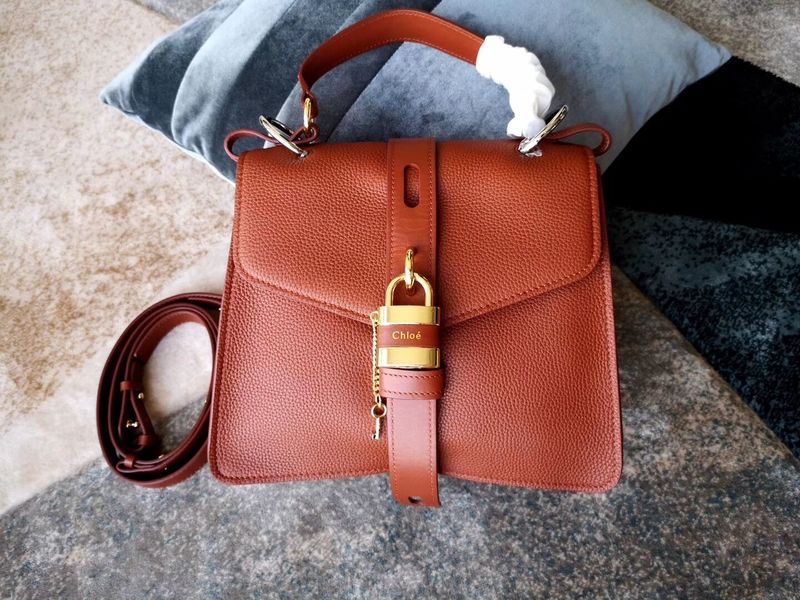 Chloe Original Buckskin Leather Lock Bag 3S088 Brown