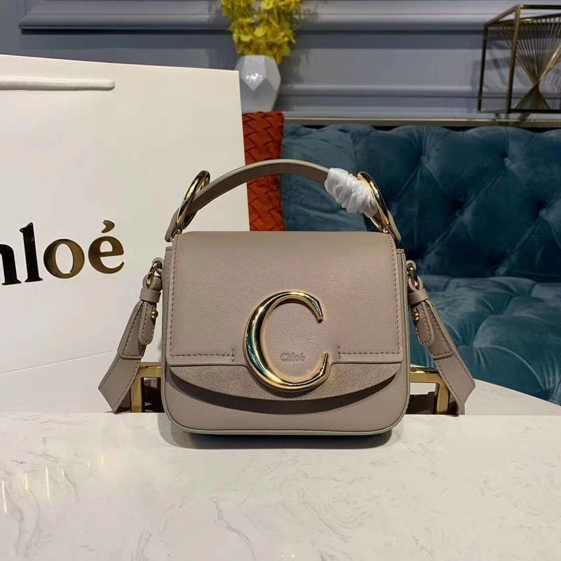 Chloe Original Calfskin Leather Top Handle Small Bag 3S030 Gray