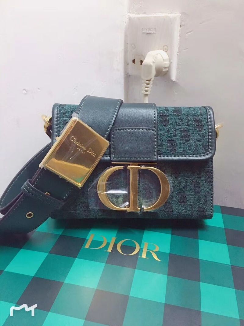 Dior 30 MONTAIGNE DIOR OBLIQUE BAG C1693 Green