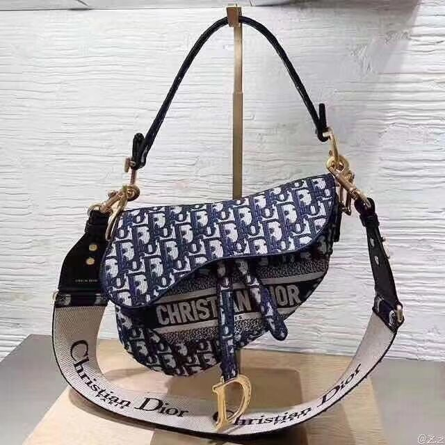 Dior SADDLE DENIM CANVAS BAG C0158 Denim Green