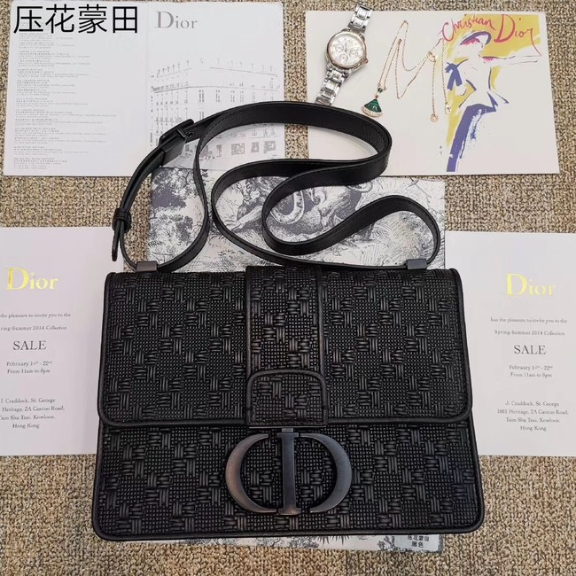 Dior 30 MONTAIGNE CALFSKIN BAG M92031 black