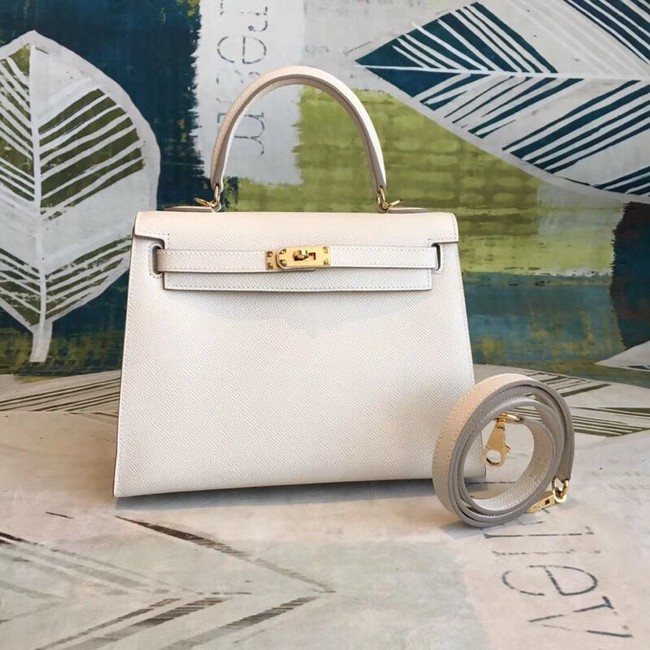 Hermes original Kelly Epsom Leather KL32 white