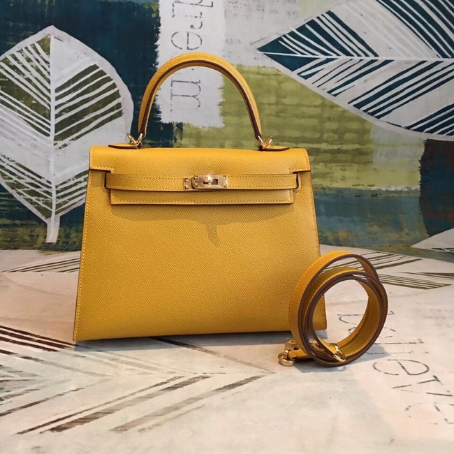 Hermes original Kelly Epsom Leather KL32 yellow