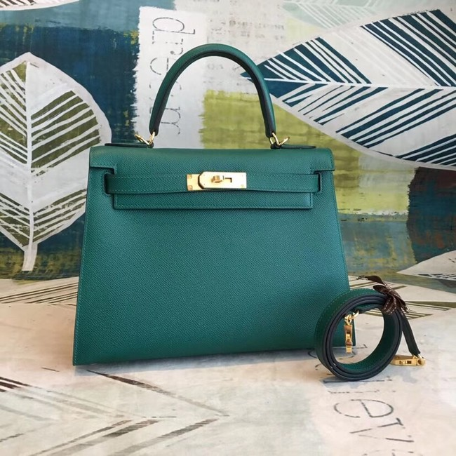 Hermes original Kelly Epsom Leather KL32 green