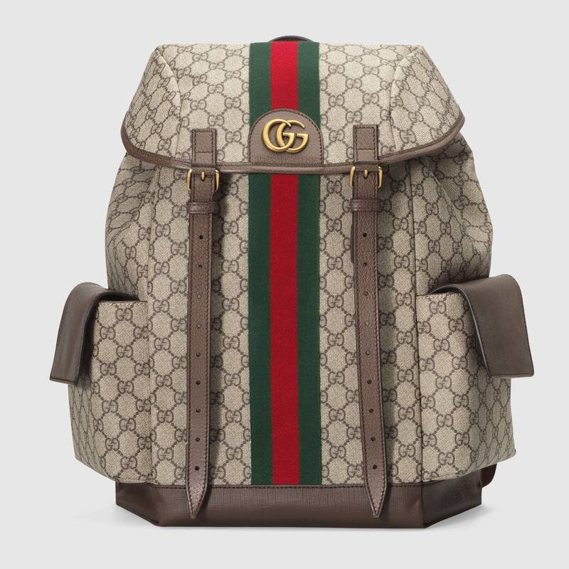 Gucci Ophidia canvas medium GG Backpack 598140 brown