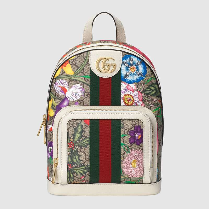Gucci Ophidia series GG flower small backpack 547965 white