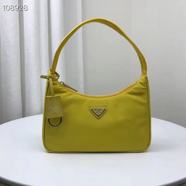 Prada Nylon tote bag 1NE515 yellow