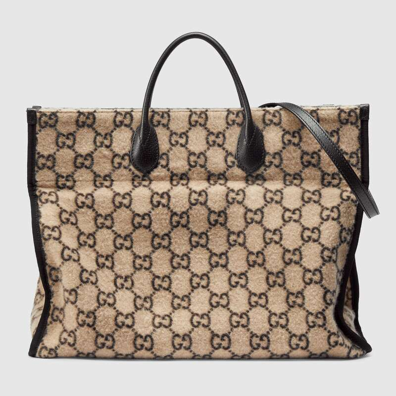 Gucci GG wool shopping bag 598169 white