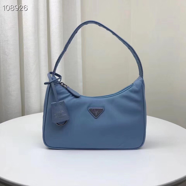 Prada Nylon tote bag 1NE515 light blue