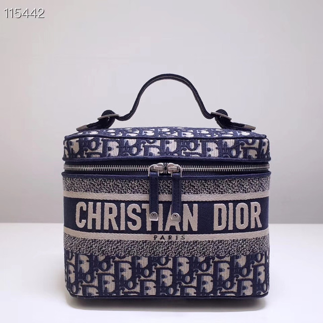 Dior SADDLE DENIM CANVAS Cosmetic Bag 5698