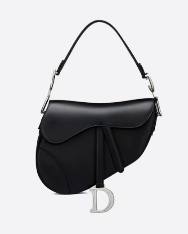 Dior BLACK SADDLE SOFT CALFSKIN BAG M0446V