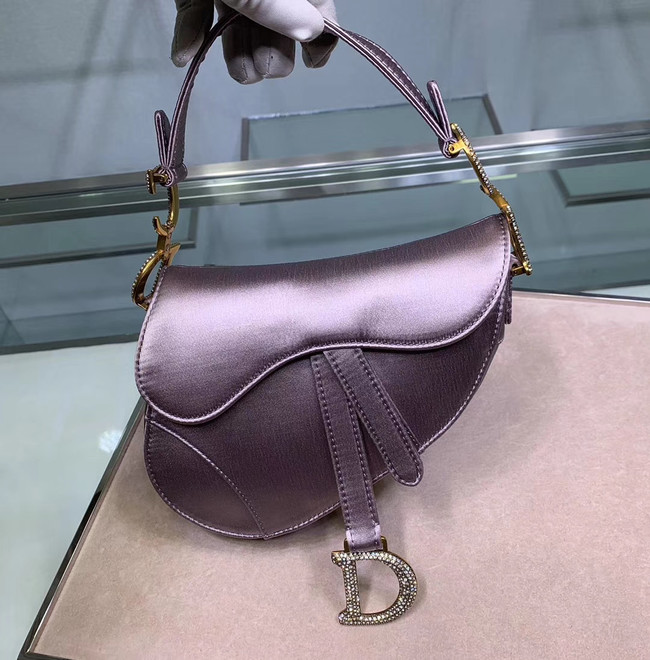 Dior SADDLE SATIN MINI BAG M447S Lilac