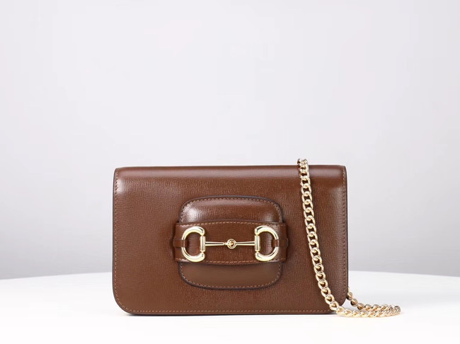 Gucci GG Marmont mini shoulder bag 600663 brown