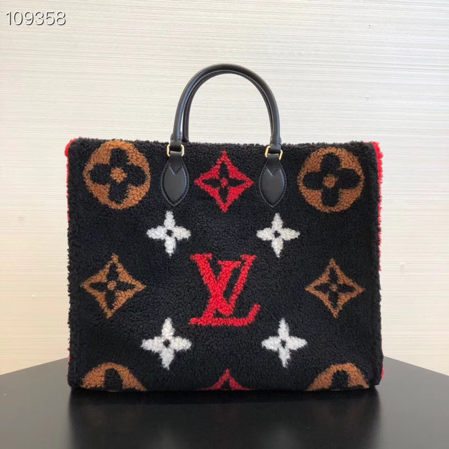 Louis Vuitton Monogram Canvas Original M44412 black&red