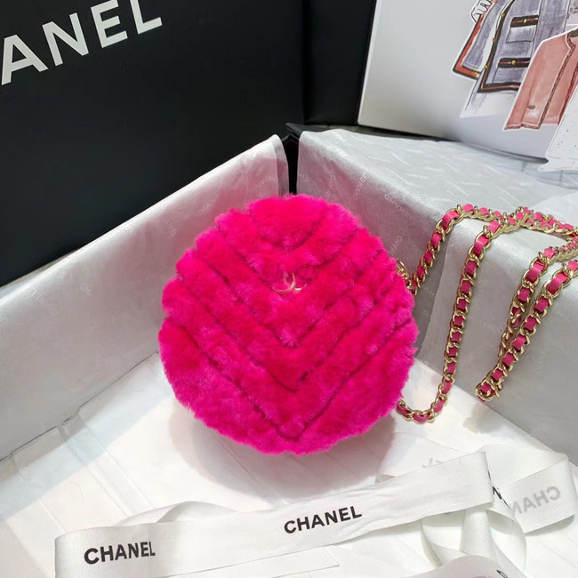 Chanel Wool sheepskin & Gold-Tone Metal AP0366 rose