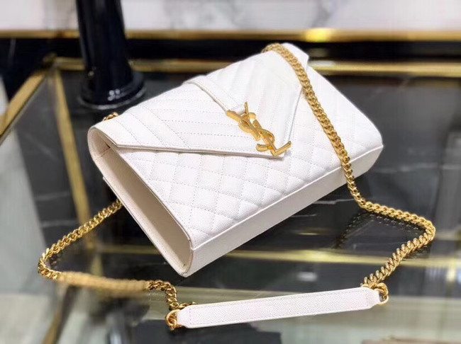 SAINT LAURENT Medium satchel 487206 white