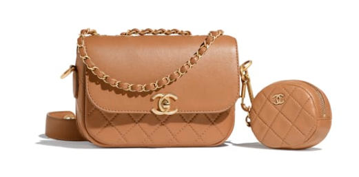 CHANEL Flap Bag Lambskin&Gold-Tone Metal AS1094 Camel