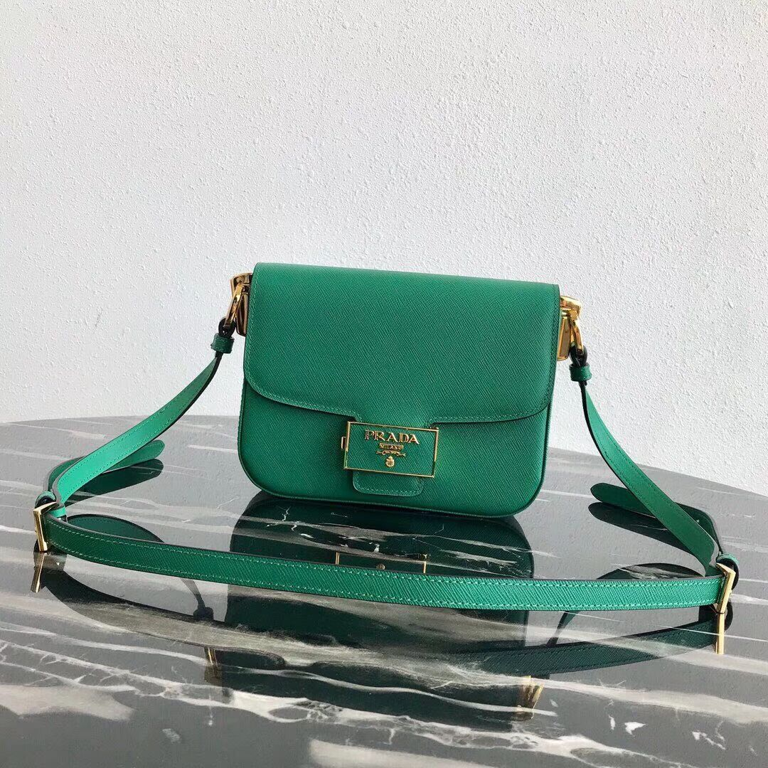 Prada Embleme Saffiano leather bag 1BD217 green