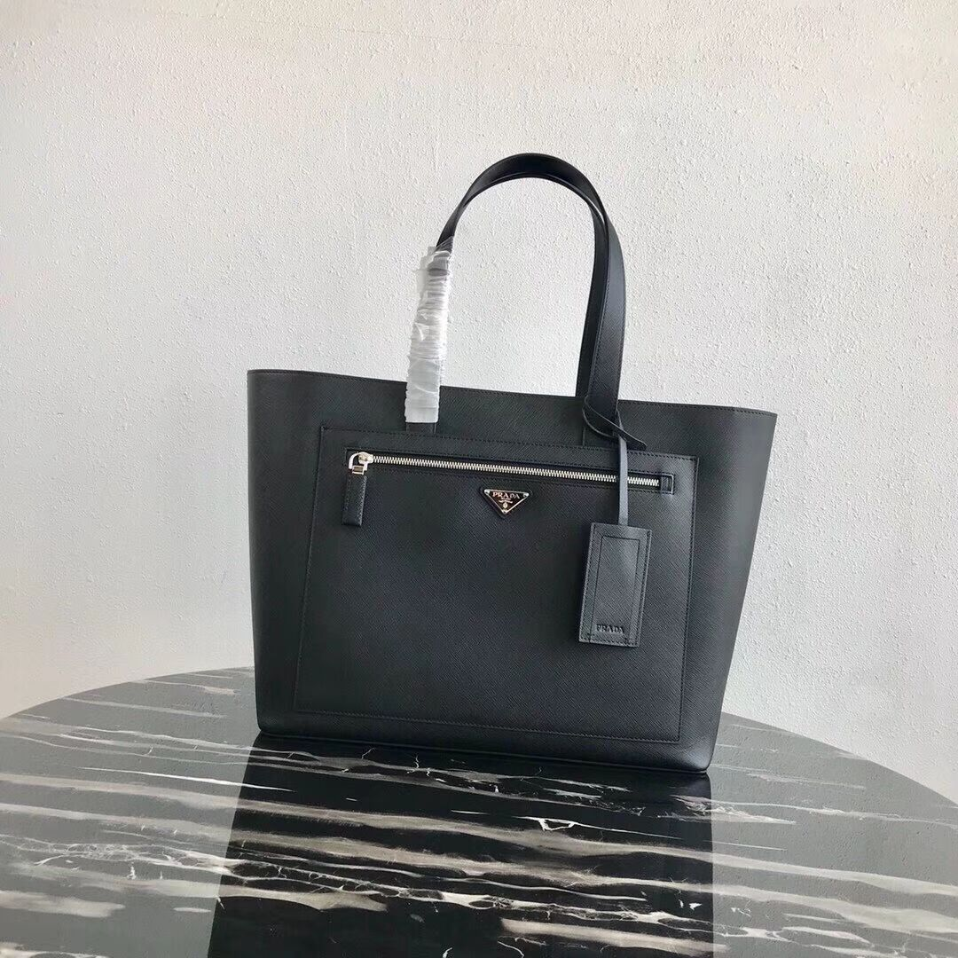 Prada Embleme Saffiano leather bag 2VE015 black