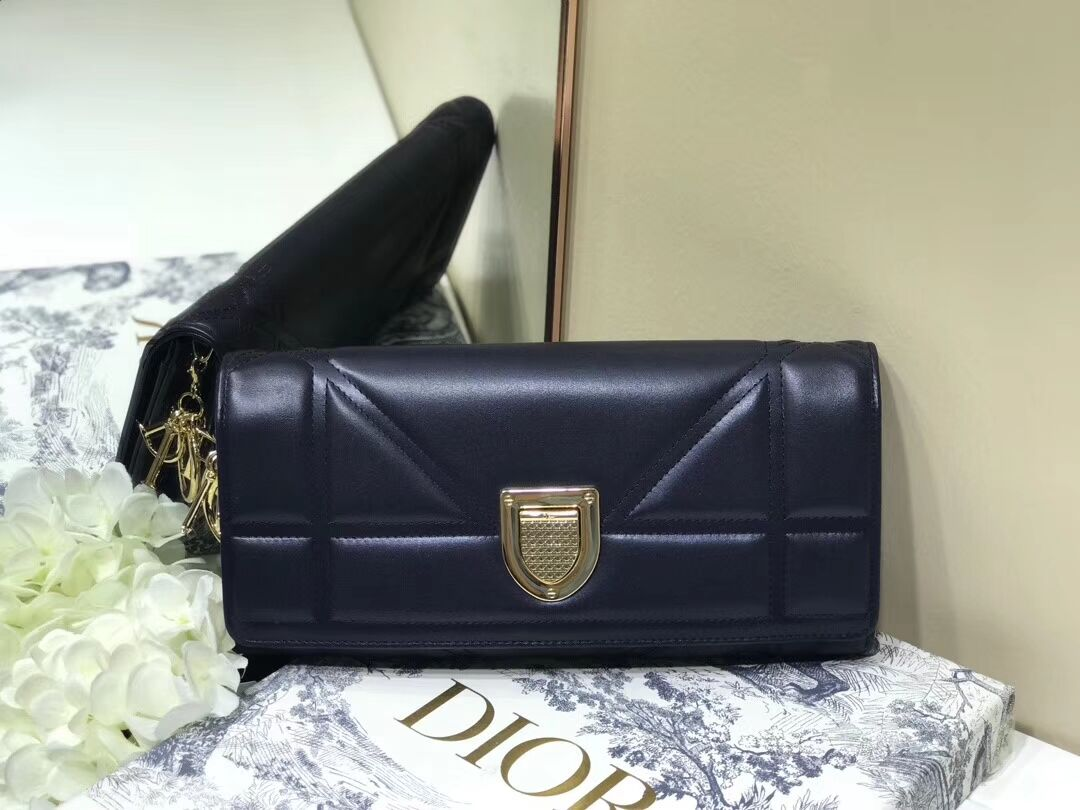 DIOR CLUTCH  gold-tone metal C1040A black