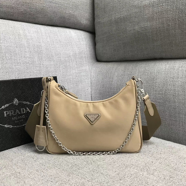 Prada Nylon Shoulder Bag 91277 apricot