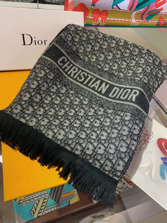 DIOR OBLIQUE STOLE IN WOOL AND CASHMERE C344