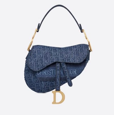 Dior SADDLE DENIM CANVAS BAG M928 blue