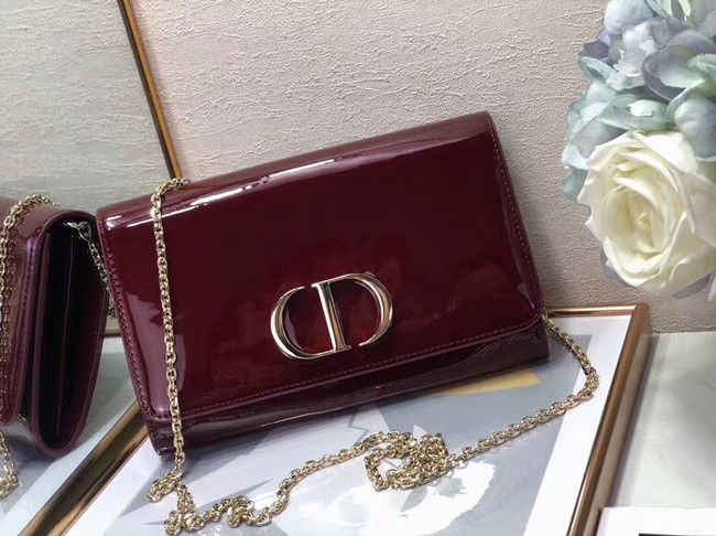 Dior leather Clutch bag M9205 Burgundy