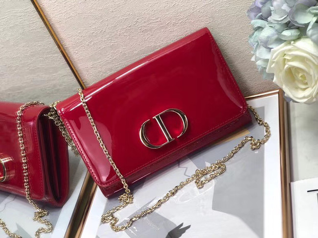 Dior leather Clutch bag M9205 red