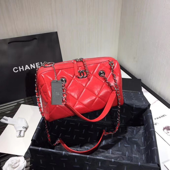 Chanel Bowling Bag AS1321 red