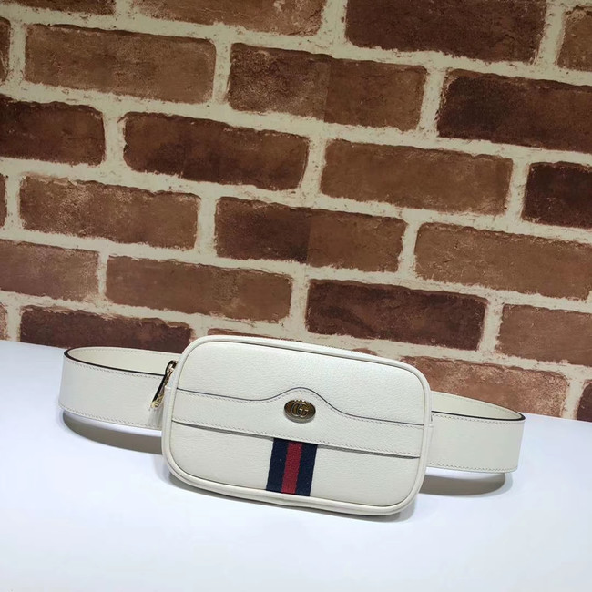 Gucci GG Original Leather belt bag 519308 white
