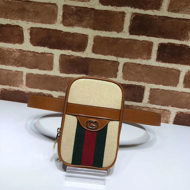 Gucci Soft GG Supreme belt bag 581519 brown