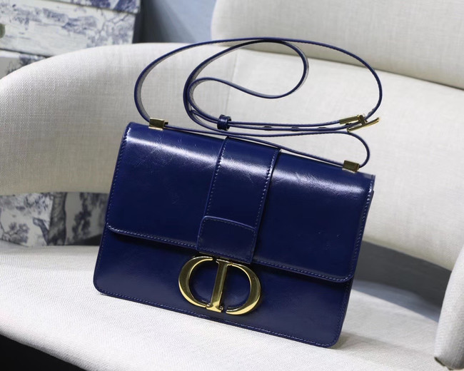 Dior 30 MONTAIGNE CALFSKIN BAG M9203 dark blue