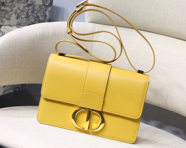 Dior 30 MONTAIGNE CALFSKIN BAG M9203 yellow