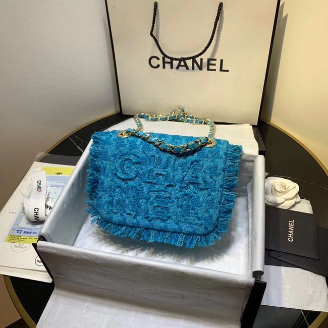 CHANEL 19 Flap Bag AS0974 blue