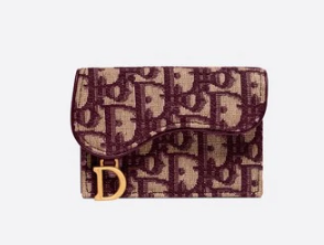 DIOR OBLIQUE SADDLE CARD HOLDER M974