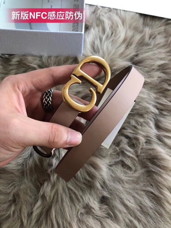 Dior Calf Leather Belt Wide with 20mm 5361 pink