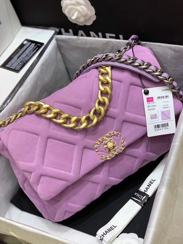 CHANEL 19 Flap Bag AS1161 Lavender