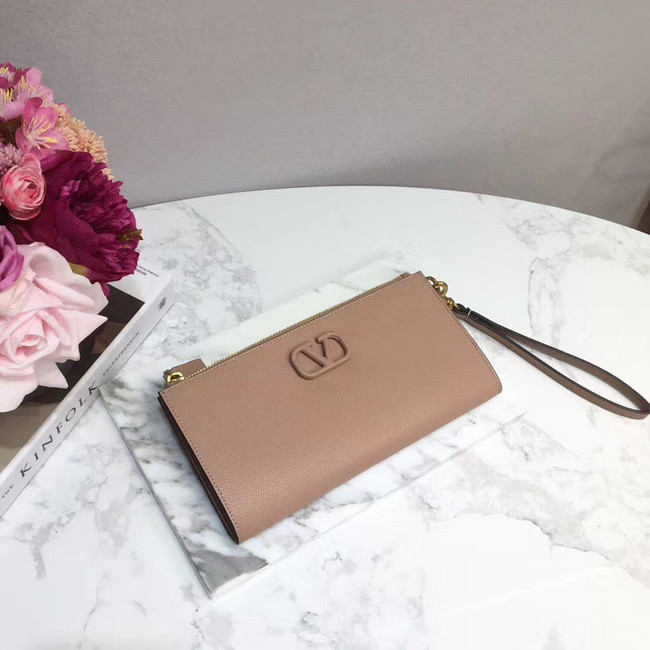 VALENTINO Origianl leather 060 Clutch bag pink