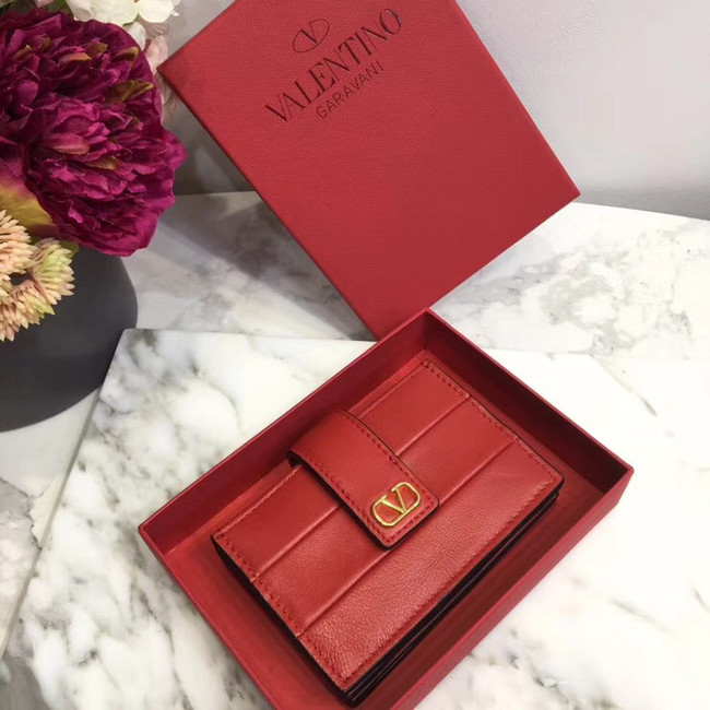 VALENTINO Origianl leather 023 Card Holder red