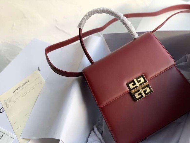 Givenchy Calfskin tote 2019 Burgundy