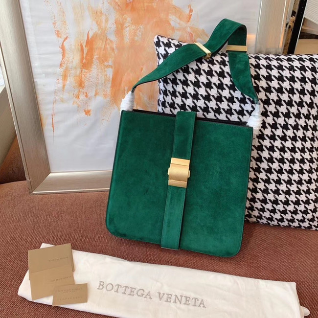 Bottega Veneta Original velvet Leather 578344 green